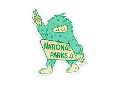 Sasquatch National Park Vinyl Sticker