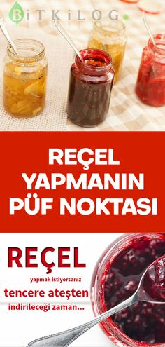 Reçel Yapmanın En iyi Püf Noktası There are some tips you need to know to make delicious jams. The post The Best Tip of Making Jam appeared first on Pink Unicorn. No Cook Desserts, Dessert Recipes, Mousse, How To Make Jam, Recipe Boards, Comfort Food, Pastry Recipes, Creative Food, The Best