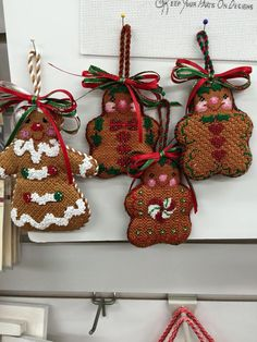Love these gingerbread ornaments.