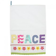 Peace Applique Tea Towel