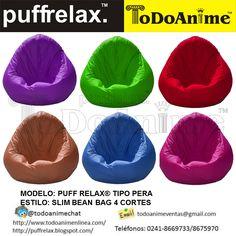 Puff slim tipo pera 4 cortes hermosos colores para todos los gustos