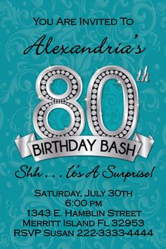 216 best adult birthday party invitations images on pinterest girl 80th birthday invitations digital download get these invitations right now design yourself online stopboris Images