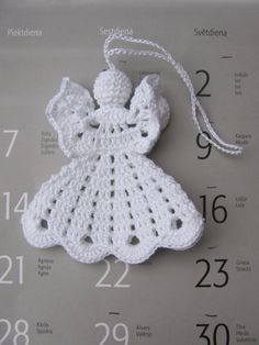 Crochet angel Christmas ornament Home decor A16 by InKasTrifles