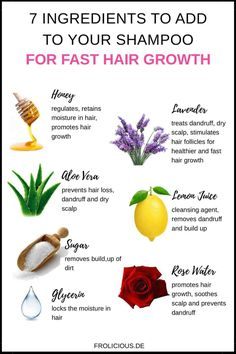 7 ingredients your shampoo for fast hair growth .- 7 Zutaten, die Sie Ihrem Shampoo für schnelles Haarwachstum hinzufügen sollten… 7 ingredients you should add to your shampoo for fast hair growth – natural hair care – - Diy Hair Care, Afro Hair Care, Hair Growth Treatment, Hair Treatments, Hair Remedies, Hair Thickening Remedies, Thickening Shampoo, Diy Shampoo, Hair Health