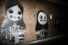 matryoshka doll graffiti