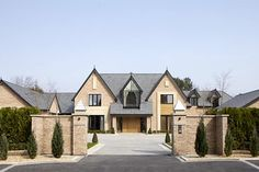 Photograph of entrance, driveway and front elevation of Seven, Torkington Road, Wilmslow Luxury Apartments, Luxury Homes, House Front, My House, Mansion Homes, Dream House Exterior, House Extensions, House Goals, Lofts