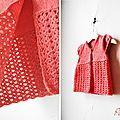 Gilet potiron, version 2013... tricot + crochet, par les Wouimardis