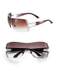 BVLGARI Parentesi Shield Sunglasses