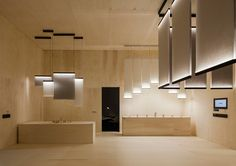 arik levy's curtain light for VIBIA also serves as a partition system