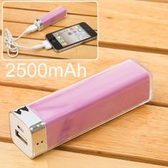 2500mAh Mobile External Power Battery Charger for various Digital Devices $10.84--all kinds of cheap tech at this web site!