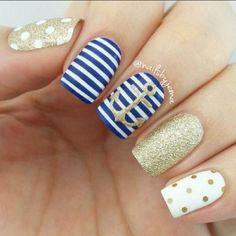 Imágenes de uñas decoradas con diseños para el verano | Ideas imágenes