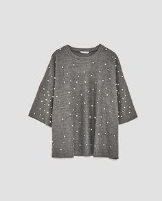 Image 8 of SOFT TOUCH SWEATER WITH FAUX PEARLS from Zara