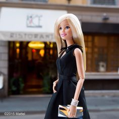 """""""Grabbing a bite at Bice, my favorite restaurant in Milano!  #mfw #barbie #barbiestyle"""""""