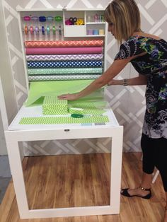 We R Memory Keepers SPC Trade Show Summer 2014 Gift Wrapping Table - Scrapbook.com #giftwrapping