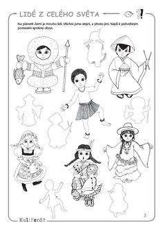 Doll Patterns, Geography, Worksheets, Coloring Pages, Children, Kids, Kindergarten, Teaching, Education