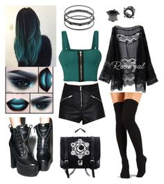 Designer Clothes, Shoes & Bags for Women Cute Emo Outfits, Pastel Goth Outfits, Bad Girl Outfits, Trendy Summer Outfits, Cute Outfits For School, Edgy Outfits, Pretty Outfits, Fashion Outfits, Alternative Outfits