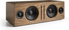 The Audioengine B2 (pictured in zebrawood) adds atmosphere and style to any room.      Quality tunes, good looks, and wireless convenience    The Audioengine B2 wireless speaker is attractive,