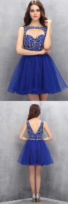 Organza Knee Length Homecoming Dresses with Beading