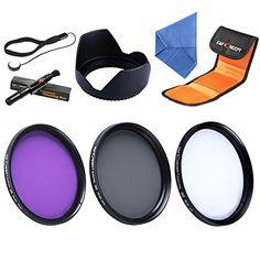 K&F Concept 58mm Slim UV CPL FLD Filterset Schutzfilter Graufilter Objektiv Filter Set Kamera Zubehör Set für Canon 600D EOS M M2 700D 100D 1100D 1200D 650D DSLR Kamera + Reinigungspinsel + Gegenlichtblende + Objektivkappenhalter + Reinigungstuch + Filtertasche - http://kameras-kaufen.de/k-f-concept/k-f-concept-58mm-slim-uv-cpl-fld-filterset-objektiv