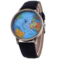 Unisex World Map Design Analog Quartz Watch Style: Casual. Watchcase Diameter: Band Length: Band Width: about Package Include: Unisex World Map Design Analog Quartz Watch Casual Watches, Watches For Men, Women's Watches, Wrist Watches, Unique Watches, Stylish Watches, Watches Online, Map Watch, World Map Design