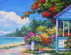 Summer Art Painting   Summer Colors Painting by John Clark - Summer Colors Fine Art Prints ...