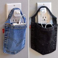 Don't Toss Your Old Jeans Here Are Fun And Creative Crafts You Do With Them is part of Denim crafts - Right when you thought your denim had seen it's last days, think again Sewing Hacks, Sewing Crafts, Sewing Projects, Sewing Tips, Recycling Projects, Recycled Denim, Recycled Crafts, Artisanats Denim, Denim Crafts