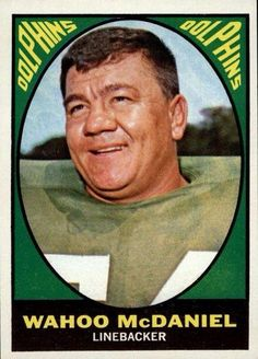 For sale 1967 topps football 82 wahoo mcdaniel rookie card miami dolphins wrestling hall of fame emorys memories. Nwa Wrestling, Wrestling Stars, Wrestling Superstars, American Football League, American Sports, Native American, Football Trading Cards, Football Cards, Nfl Football