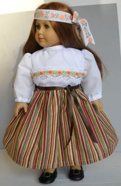 "Fits 18"" American Girl doll Estonia Estonian folk dress clothes A (COSTUME ONLY)"