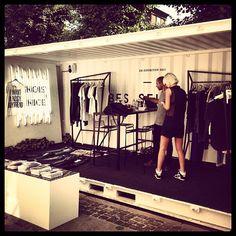 Noisy may at Copenhagen Fashion Week showing off the cool pop-up showroom #CFW #Noisymay #showroom @Verónica Sartori MODA