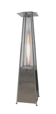 "This stainless steel outdoor heater looks nice, and with the warmth it provides, you'll be able to enjoy your deck or patio several more days a year. It has a ""piezoelectric igniter"". That sounds pretty fancy, but it's the kind of igniter you have on your camp stove. That makes this heater easy to start."