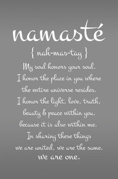 Large Namaste Yoga Quote Decal for Living Room, Dorm, Yoga, Studio, Gym, Home or Bedroom