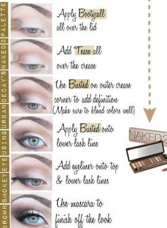 Naked 2 palette tutorial- I love this simple, casual daytime look!