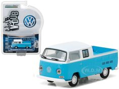 1966 VW tipo 3 Variant-Service Sales parts *** Greenlight Blue Collar 1:64 NUOVO