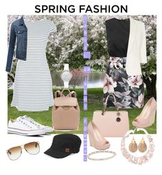 spring fashion, casual/semi formal by hmoua82 on Polyvore featuring polyvore, fashion, style, New Look, AX Paris, Jolie Moi, LE3NO, Converse, Jessica Simpson, Alexander Wang, MICHAEL Michael Kors, Poppy Jewellery, Alexis Bittar, Skagen, Marchesa, Roxy, Dita and clothing