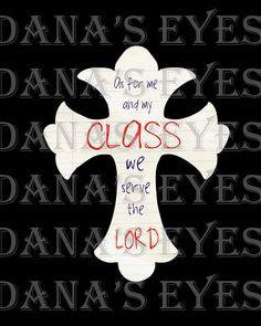 Faith Classroom Christian cross for teachers by danalindner, $4.99