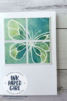 Stampin' Up! Beautiful Day Butterflies with Brusho, Occasions Catalogue 2018, Stampin' Up! Brusho's Cards, Ink Paper Girl with Katrina Duffell Independent Stampin' Up! Demonstrator Sydney Australia