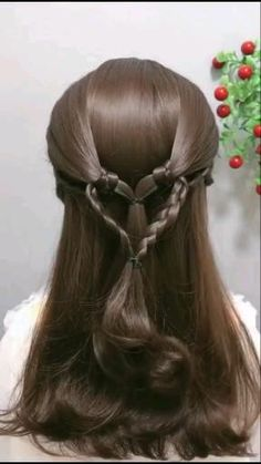 Fancy Hairstyles, Witchy Hairstyles, Girl Hairstyles, Braided Hairstyles, Hairdo For Long Hair, Bridal Hair Buns, Front Hair Styles, Medium Brown, Lace Front Wigs