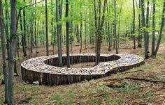 60 Trendy Ideas For Wood Art Installation Gardens Outdoor Sculpture, Outdoor Art, Outdoor Gardens, Garden Sculpture, Land Art, Landscape Art, Landscape Architecture, Landscape Design, Forest Garden
