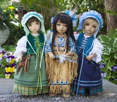 """'Three Little Friends""""  These are dolls!"""