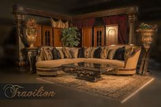 Adrianna Sectional Sofa By Travilion Home Furnishings Design