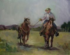 Connie Chadwell's Hackberry Street Studio: The Runaway - original oil western painting by Connie Chadwell