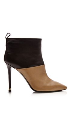 Beige and Black Calf Leather Tubo Boots by Nicholas Kirkwood - Moda Operandi