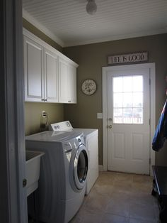 Laundry and mud room? not as pretty as all built in...