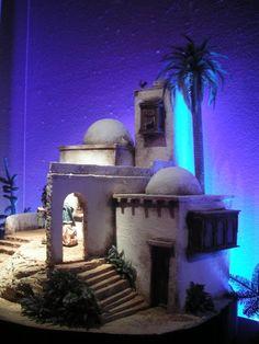 Diy Nativity, Christmas Nativity Scene, Fontanini Nativity, Christmas Crib Ideas, Garden Nook, Magic House, Modelos 3d, Miniature Houses, Fairy Houses