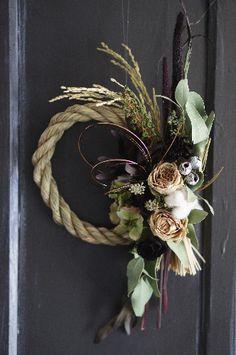 お正月飾り(黒蝶&大輪バラ)限定2個 - deuxR - Natural Flower - ドライフラワー,リース,花材販売,