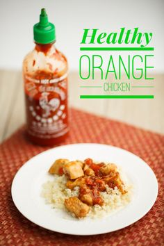 This sweet and spicy orange chicken is served over a bed of cauliflower rice. It's a protein-packed meal that tastes just as good as takeout!