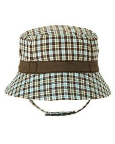 NWT Gymboree Backyard Explorer Plaid Stripe Bucket Hat Sun Hat NEW Navy 4T 5T