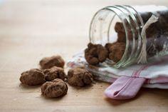 dark chocolate peanut butter walnuttruffles