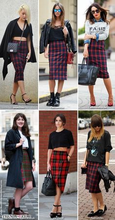 Alllllll the plaid skirt outfit combos