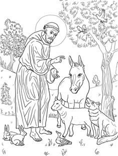 Fancy Coloring Pages Of Jesus On The Cross 60 St Francis Of Assisi